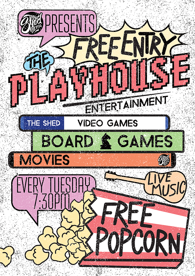 playhouse the shed Leicester gaming